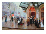 Outside the Vaudeville Theatre, Paris Giclee Print by Jean Béraud