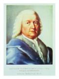 Portrait of Johann Sebastian Bach Giclee Print by Gottlieb Friedrich Bach