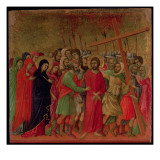 Maesta: the Road to Calvary, 1308-11 Giclée-tryk af  Duccio di Buoninsegna