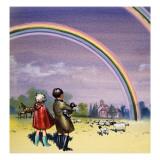 R for Rainbow, Illustration from 'Treasure', 1963 Giclée-Druck von John Worsley