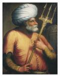 Portrait of Khair Ed-Din, C.1550 Giclée-tryk af  Italian School