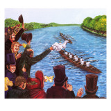 The First Oxford and Cambridge Boat Race Giclee Print by John Keay