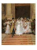The Wedding, Church of St. Roch, Paris Giclee Print by Frederik Hendrik Kaemmerer