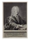 Portrait of Georg Philipp Telemann Giclee Print by Georg Lichtensteger