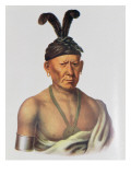 Wakechai or 'Crouching Eagle', a Sauk Chief Giclee Print by Charles Bird King