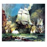 Hms Victory at the Battle of Trafalgar Impressão giclée por  McConnell