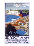 Seaton, Devon, Poster Advertising Southern Railway Giclee Print by Kenneth Shoesmith