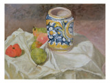 Still Life with Italian Earthenware Jar Lámina giclée por Paul Cézanne