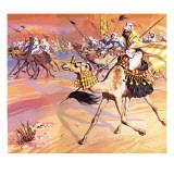 Arabs Pouring across the Desert to Kill Mohamed Giclee Print by  Mcbride