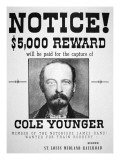Reward Poster for Thomas Cole Younger Giclee Print by  American School