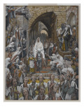 The Procession in the Streets of Jerusalem Giclée-vedos tekijänä James Tissot