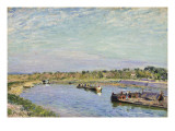 Le Port De Saint Mammes, Le Matin, 1885 Giclee Print by Alfred Sisley