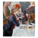 The Luncheon of the Boating Party, 1881 Giclée-tryk af Pierre-Auguste Renoir