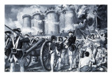 The Fall of the Bastille in 1789 Giclee Print by Paul Rainer