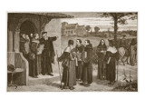 Wycliff Sending Out His 'Poor Priests' Giclee-trykk av William Frederick Yeames