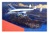 Boac Plane, from 'speed and Power' Giclee Print by Wilf Hardy
