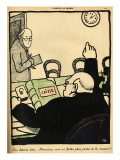 An Employer Sacks One of His Employees Giclee Print by Félix Vallotton