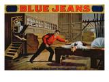 The Great Saw Mill Scene', Poster for 'Blue Jeans' Gicléedruk van  American School