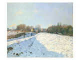 Effect of Snow at Argenteuil, 1874 Giclee Print by Alfred Sisley