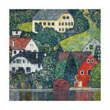 Houses at Unterach on the Attersee, C.1916 Giclée-Druck von Gustav Klimt