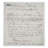 Diary Entry of Gold Prospector, 1848 Giclee Print by  American School