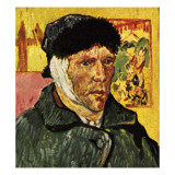 Van Gogh with a Bandage Round His Head Giclée-tryk af  English School