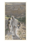 Jesus Goes in the Evening to Bethany Giclee Print by James Tissot