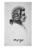 Portrait of Wolfgang Amadeus Mozart Reproduction procédé giclée par  French School
