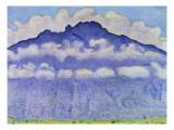 Andey Mountain, Vue from Bonneville, 1909 Reproduction procédé giclée par Ferdinand Hodler