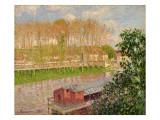 Sunset at Moret-Sur-Loing, 1901 Reproduction procédé giclée par Camille Pissarro