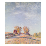 Uphill Road in Sunshine, 1891 Giclee Print by Alfred Sisley