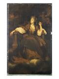 Mrs. Siddons as 'The Tragic Muse' Giclee-trykk av Sir Joshua Reynolds