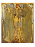 Back of a Nude Woman with Ghosts Reproduction procédé giclée par Koloman Moser
