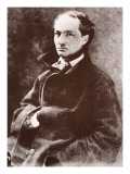 Charles Baudelaire, 1855 Giclee Print by  Nadar