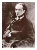 Charles Baudelaire, 1855 Gicléedruk van  Nadar
