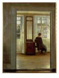 A Lady in an Interior Gicléetryck av Carl Holsoe