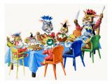 Brer Rabbit's Christmas Meal Gicléetryck av Virginio Livraghi