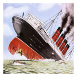 Sinking of the Lusitania Giclee Print by John Keay
