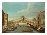The Rialto Bridge, Venice Impressão giclée por  Canaletto