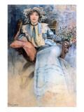 The Artist's Wife, 1903 Lámina giclée por Alphonse Mucha