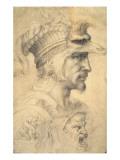 Ideal Head of a Warrior Giclée-Druck von  Michelangelo Buonarroti
