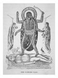Kali the Hindu Goddess Lámina giclée
