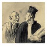 The Lawyer and His Client Reproduction procédé giclée par Honore Daumier