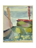 The Seaside in the Rain, 1913 Giclee-trykk av Paul Klee