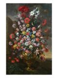 Lilies, Tulips, Carnations Lámina giclée por Bartolomeo Bimbi