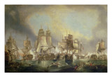 Battle of Trafalgar, 1805 Giclée-tryk af William Clarkson Stanfield