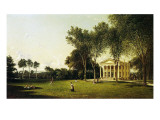 A Game of Croquet, 1873 Giclee-trykk av David Johnson