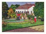 Manor House in Kertvelyes, 1907 Gicléetryck av Jozsef Rippl-Ronai