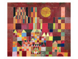 Castle and Sun, 1928 Giclee-trykk av Paul Klee