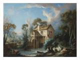The Mill at Charenton, C.1756 Reproduction procédé giclée par Francois Boucher